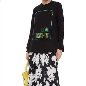 Love Moschino Iridescent Printed Sweatshirt size 6